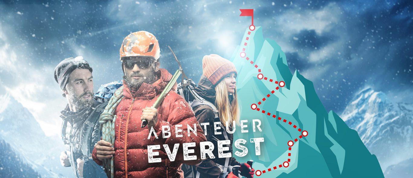 Abenteuer Everest Hybrid-Teamevent