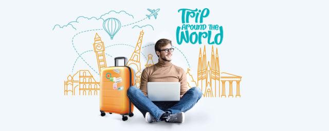 Reise rund um die Welt